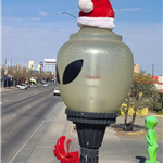 Christmas Alien Lightpost