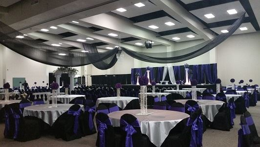 Ceremony, Banquet, and Dance Setup (Exhibit Hall)