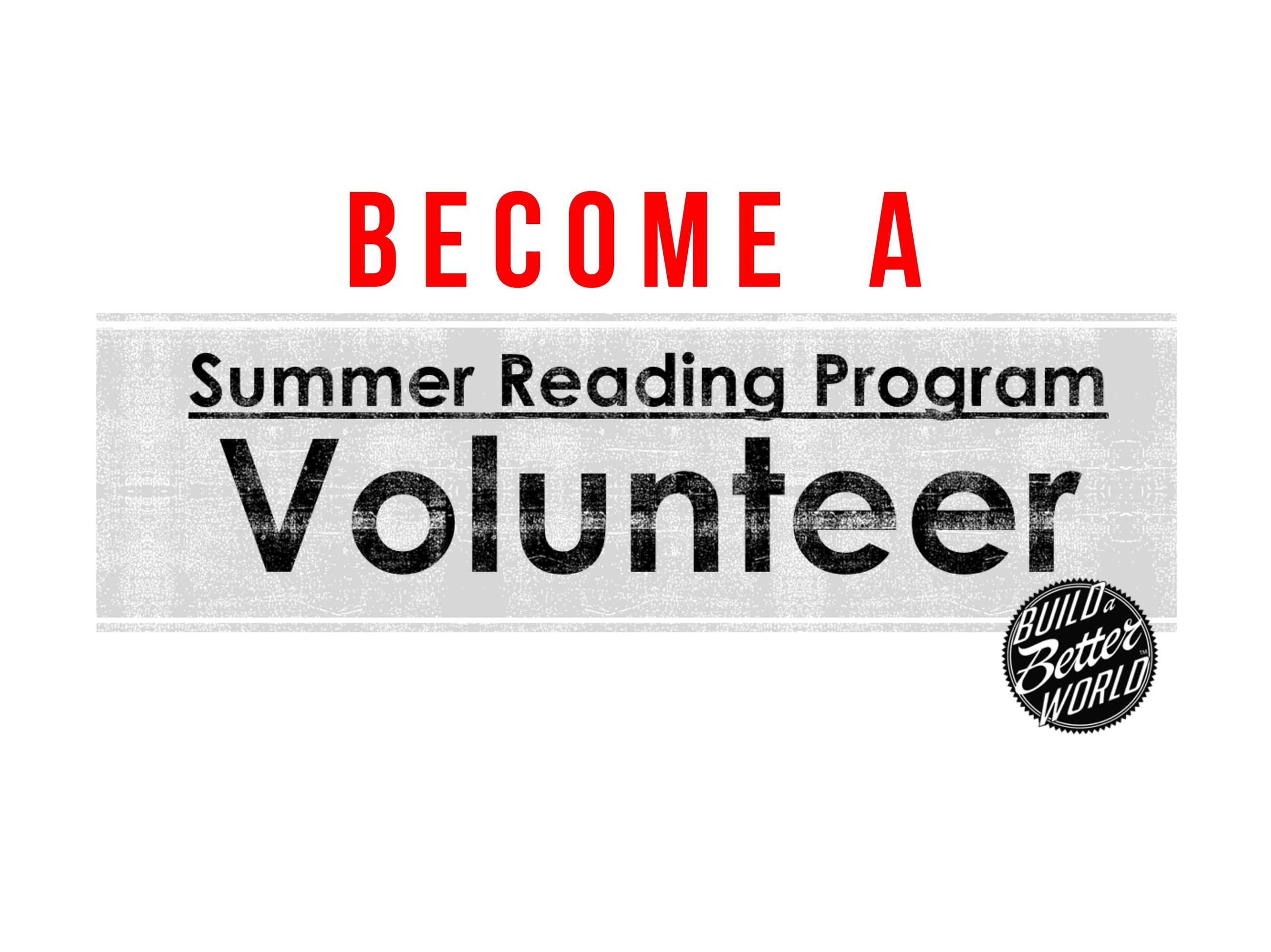 Become a Volunteer for the Summer Reading Program