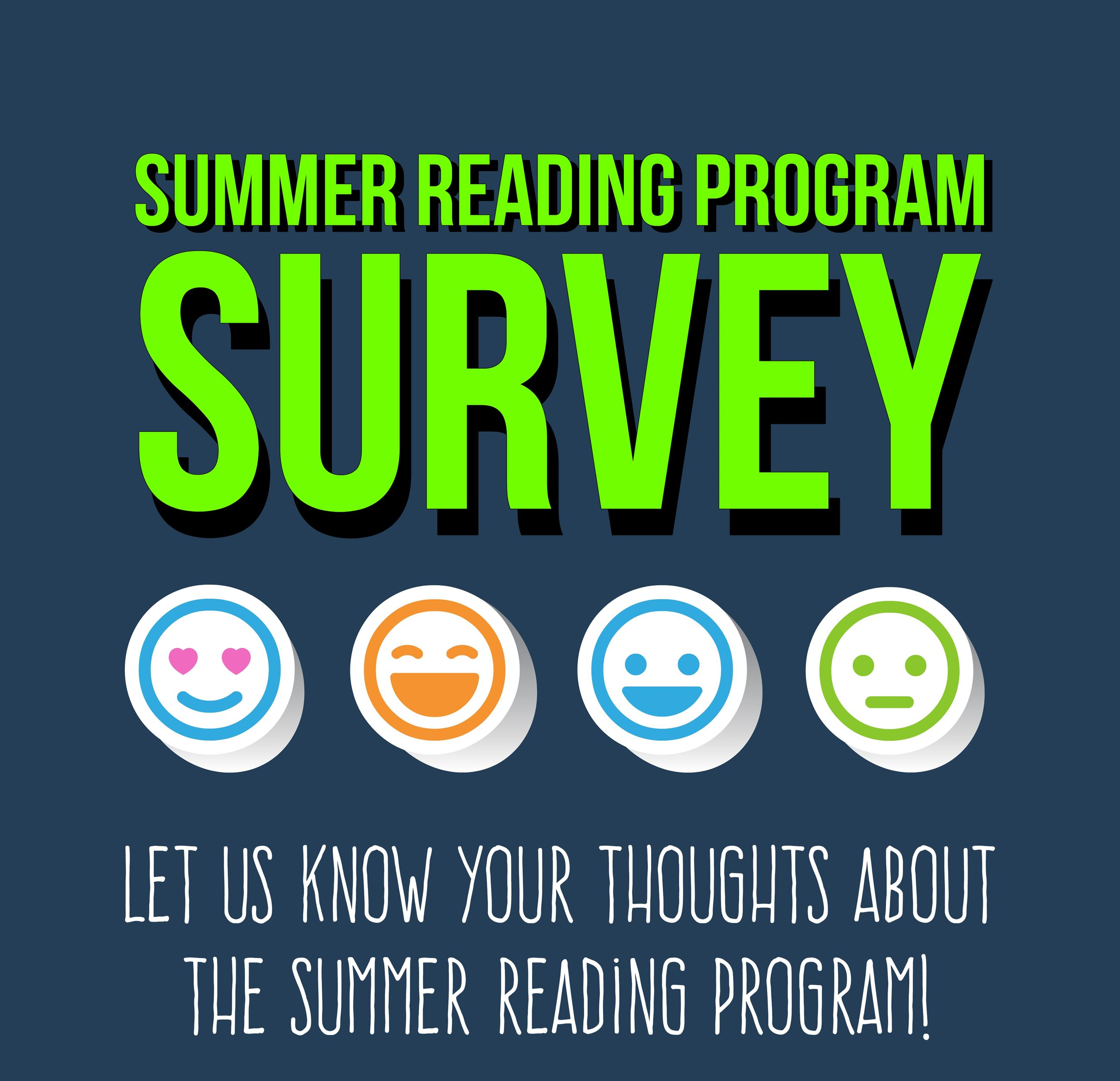 summer reading program survey