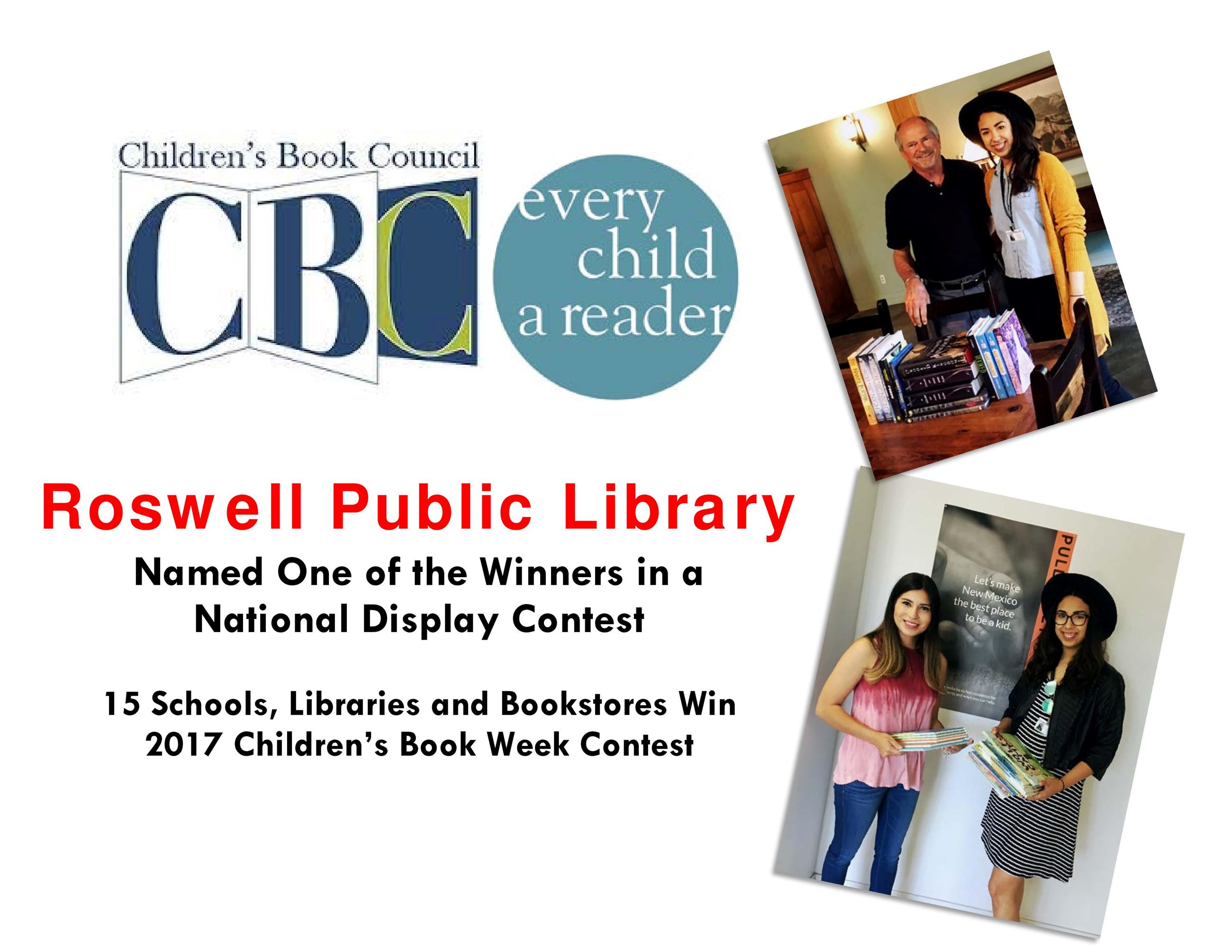 Roswell Public Library Named One of the Winners in a  National Display Contest