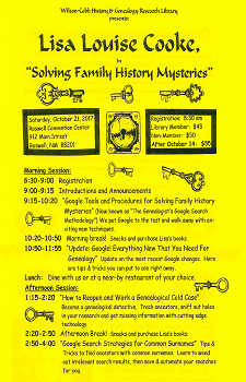Wilson Cobb Library Flyer Newsflash