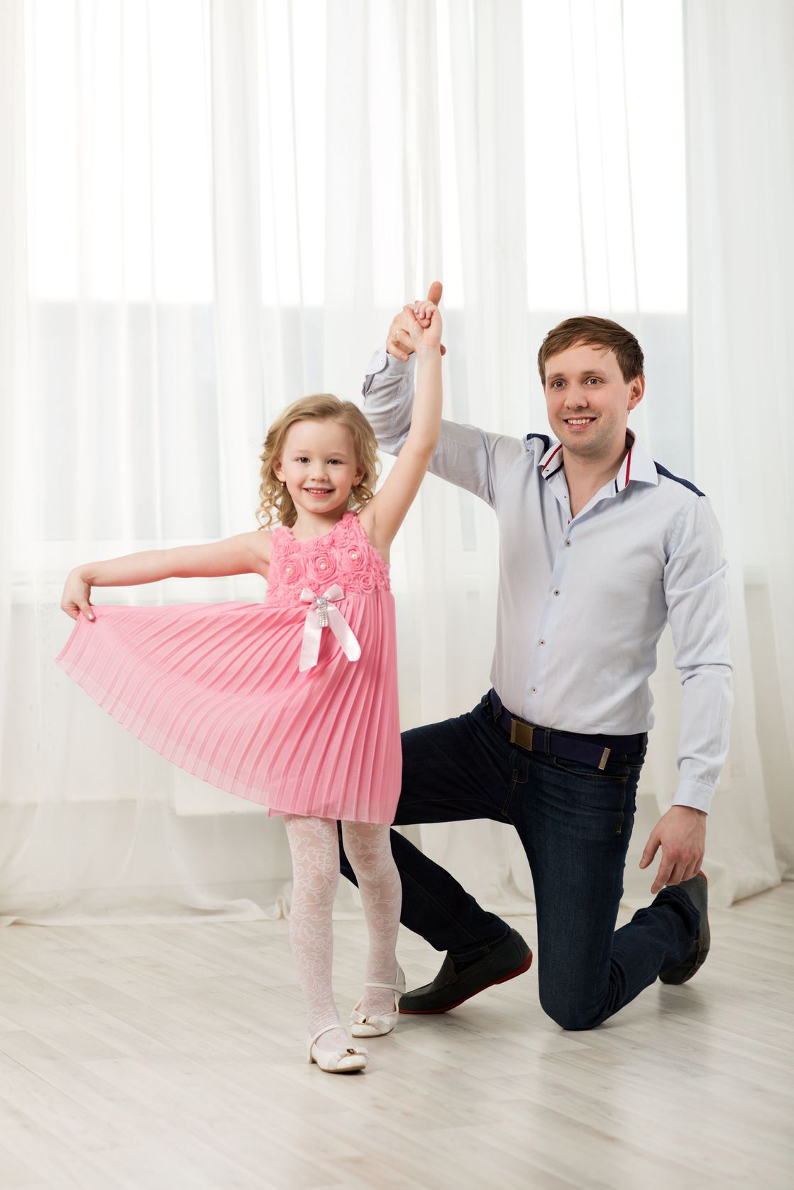 father-daughter dancing