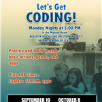 Lets Get Coding- Aug thru Dec 2018 updated
