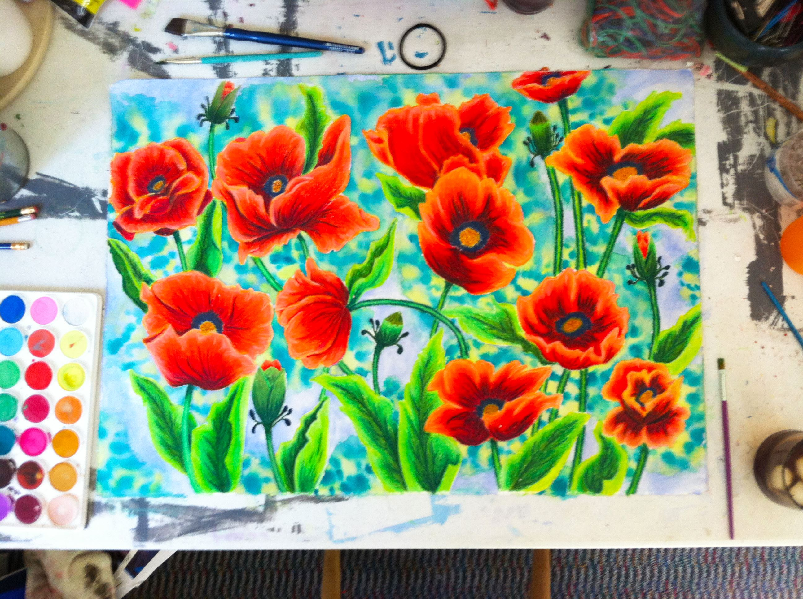 poppies adjusted