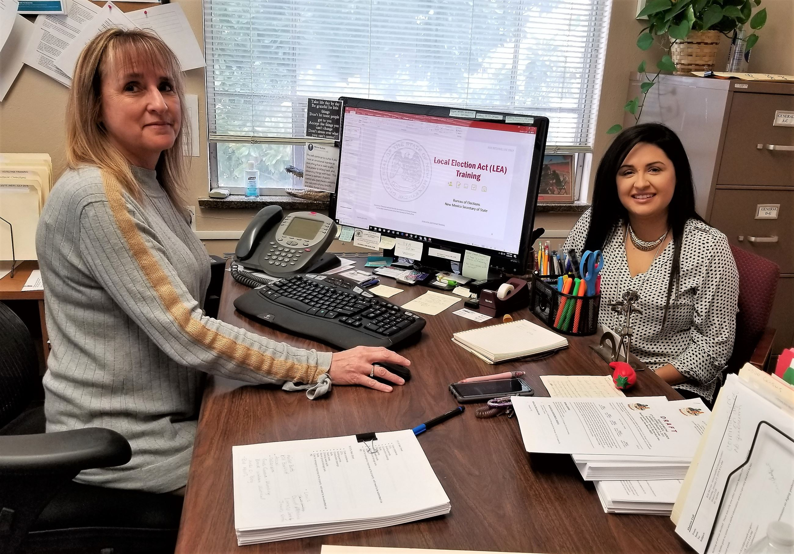 City Clerk Sharon Coll and Deputy City Clerk Stephanie Garay (Jan 2019)
