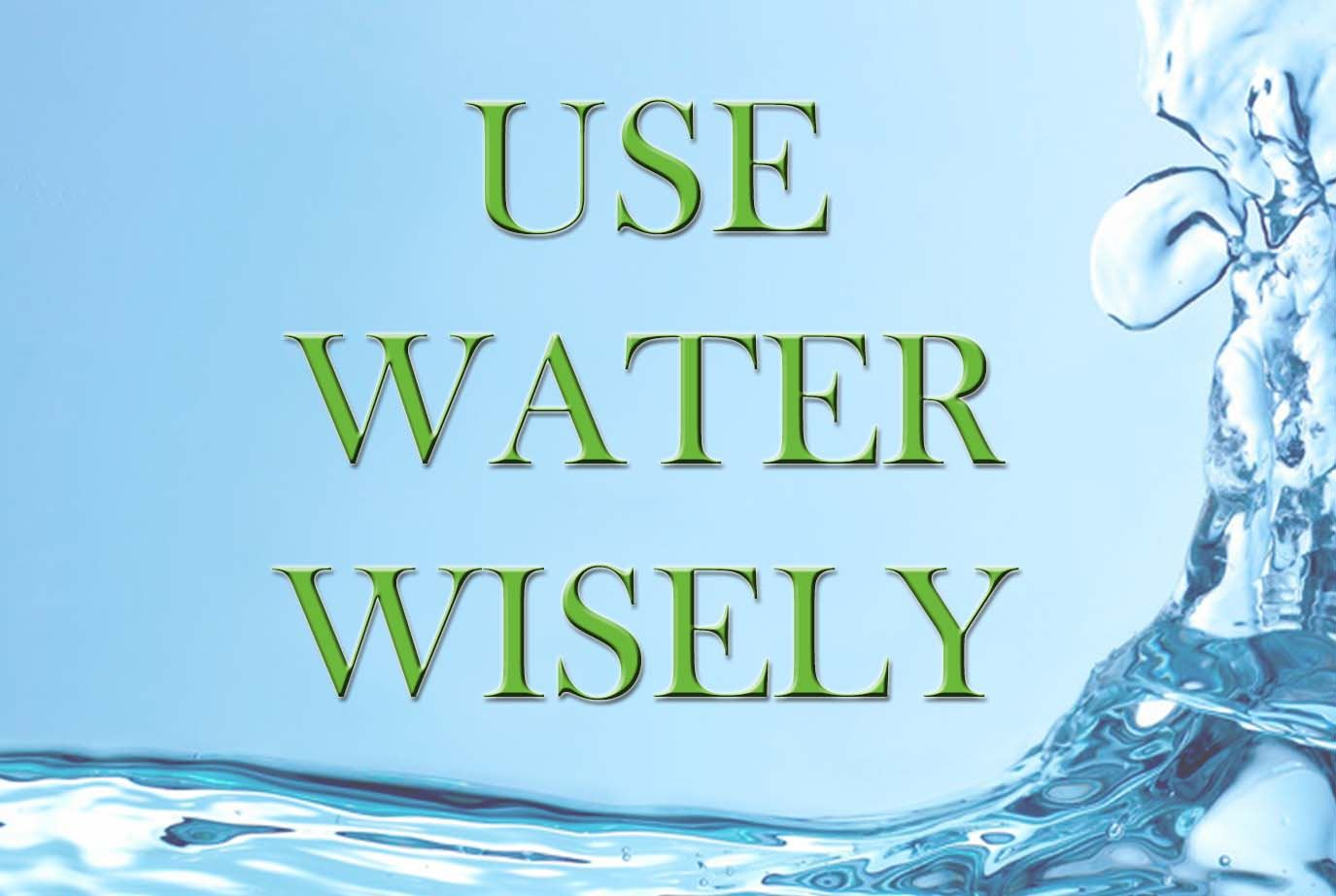 use water wisely