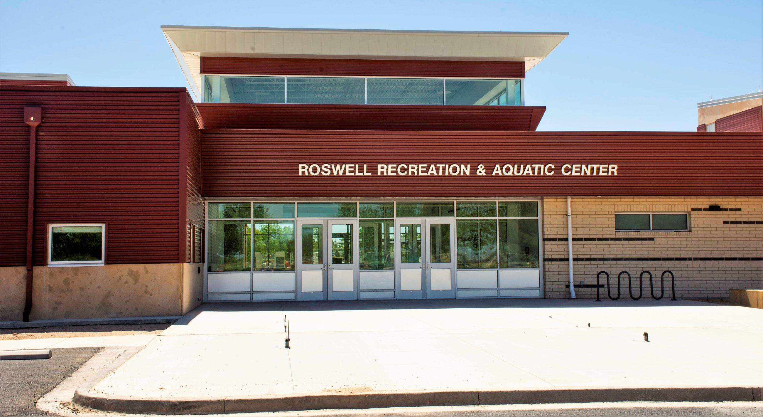 Recreation and Aquatic Center entrance