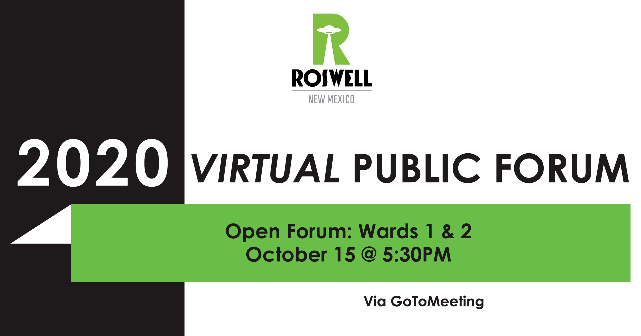 Infographic on 2020 Virtual Public Forum - Ward 1 & 2
