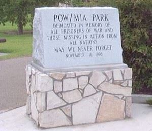 POW and MIA Park Sign