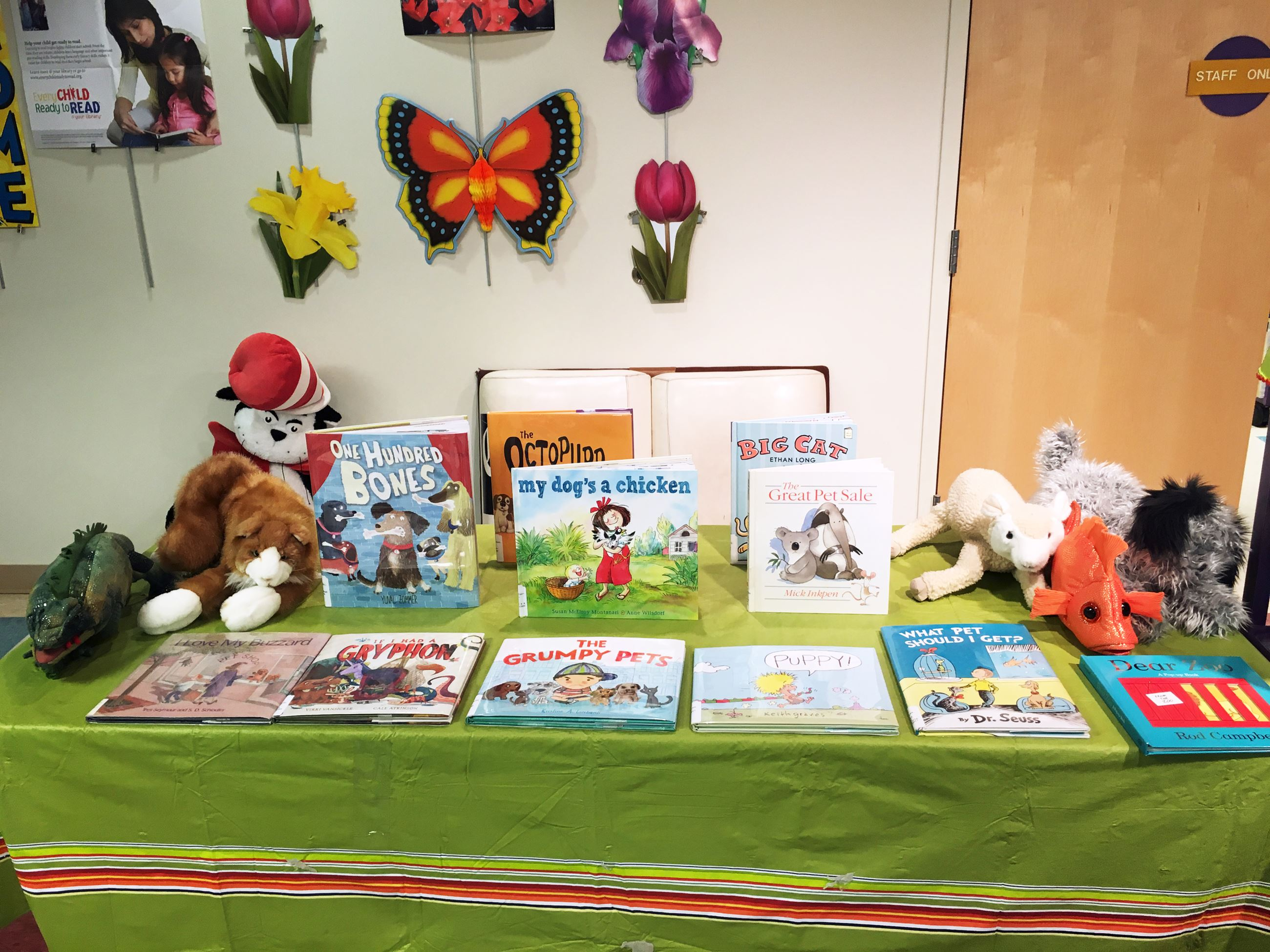 books and puppets for storytime