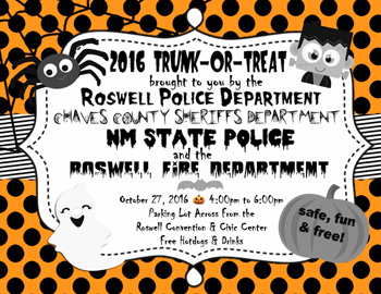 trunk ro treat flyer