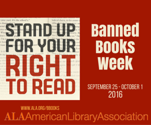 Banned Books week September 25 to October 1
