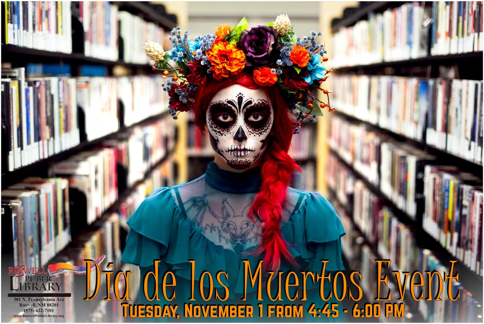 dia de los muertos event at the library
